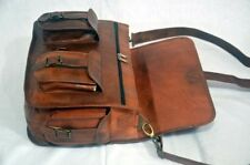 "Real Vintage Goat Leather Women's 15"" Satchel Messenger Laptop Briefcase NEW Bag"
