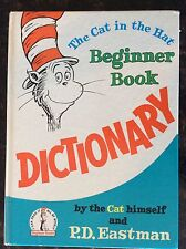 Rare.  That cat in the Hat Beginner Book Dictionary 1964 1st. Random House