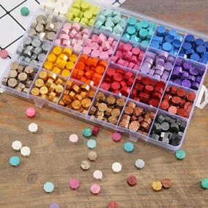 1 Box Vintage DIY Octagonal Sealing Wax Tablet Seal Stamp Wedding Wax Pill Beads