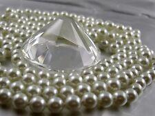 Extra Largo Collar de perlas Art Deco Estilo Anudado 168-170cm BLANCO BRILLANTE