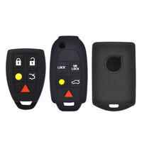 For Volvo XC70 XC90 S80 C30 C70 C70 V50 V90 Silicone Key Case Fob Shell Cover
