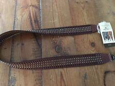 New Patricia Nash Womens Bella Vista Brown Leather Shoulder Strap O/S 7263