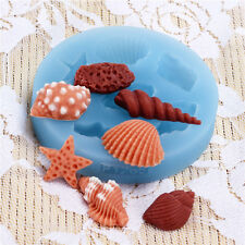 Sea Shell Polymer Clay Mold Fondant Mold Flexible Silicone Cake Decoration F1265