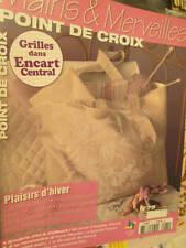 Mains & Merveilles Point De Croix Plaisirs d'Hiver Magazine #75-Editions de