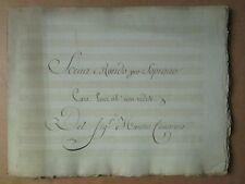 MS MUSICAL XVIII de CIMAROSA : SCENA E RONDO PER SOPRANO CARE LUCI AH !