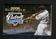 San Diego Padres--Brian Giles--2006 Pocket Schedule--Petco
