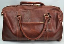 Dr Koffer New York Brown Pebbled Leather Duffle Travel Weekend Bag No Long Strap