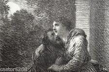 GRAVURE 1886 LOHENGRIN Fantin Latour Imp Lemercier 23x15,5cm L'Art