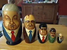 Russian Political Leaders Collectible Matryoshka Nesting Doll - 5 pieces