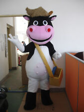 Cow Mascot Costumes Christmas Cartoon Dress Adult Animal Parade Suit Party Dress
