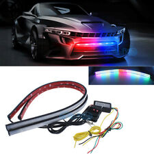 2x 7-Color RGB Scanner Flash Car Strobe Knight Rider Kit Light Strip 24inch