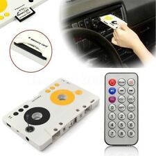 Car Tape Cassette Memory Card MP3 Player Adapter With Remote Control EU Plug