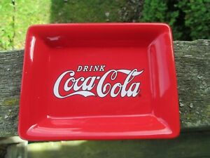 Coca-Cola Red Ceramic Soap Coin Dish   - BRAND NEW