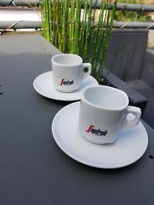 Segafredo Caffe / Milchkaffeetasse mit Unterteller - Caffe