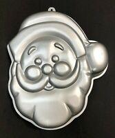 VTG🎁Wilton xmas Cookie aluminum cake Mold🎅Santa Claus Face 1987🎄Christmas
