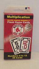MAJOR LEGUE BASEBALL BOSTON RED SOCKS MULTIPLICATION FLASH GAME CARDS