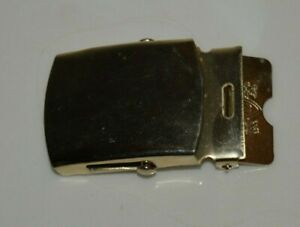 Nice Vintage US Army Solid Brass Canvas Belt Belt Buckle IG
