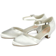 Paradox Low Heel (0.5-1.5 in.) Satin Bridal Shoes