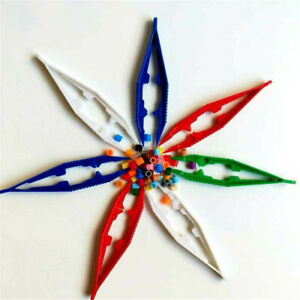 3 Plastic Learning Resources Children's Easy Grip Kid Toy Safety Tweezer Beads