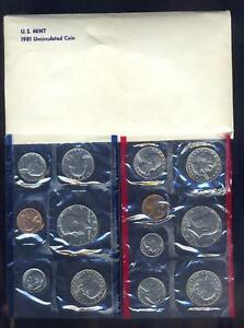 Fresh 13 Coin 1981 U.S. Mint Set With High Face Value & Scarcer Date SBA Dollars