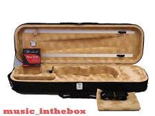 Great / Enhanced 4/4 Foamed/Oblong Shape Black Violin Case+Free violin String