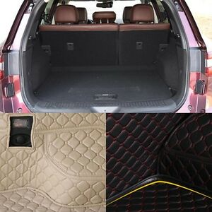PU Leather Rear Trunk Cargo Liner Protector Mat Seat Back Pad For Renault Koleos