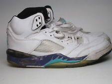 Vtg Sz8 Nike Air Jordan V 5 Grape 2001 White Purple Emerald Original 2nd Release