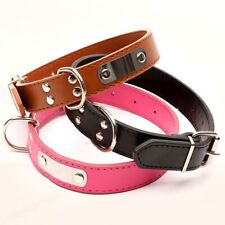 Leather Pet Dog Cat Collar Adjustable Necklace Durable Leash Safety Dog Supplies