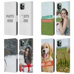 CUSTOM PERSONALIZED CUSTOM LEATHER BOOK CASE FOR APPLE iPHONE PHONES