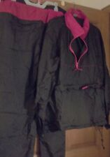 VTG UNUSED Rain Gear Set Windbreaker & Pants Mens XL Marlboro?  Red & Black