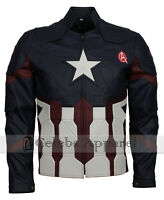 Mens 2019 Avengers Endgame Captain America Leather Jacket Costume - SALE