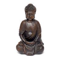 Thai Buda Figura de Decoración Sentado Escultura de Poly Buda Estatua Decoración