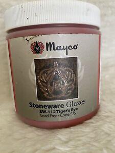 Mayco Stoneware Glaze, Tiger's Eye Cone 5/6 SW-112, 1 Pint