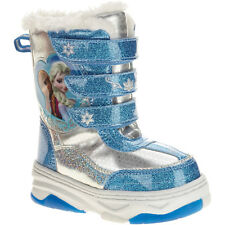 Disney Frozen Toddler Girls Triple Strap Pull On Winter Snow Boots Size 6