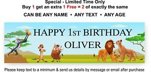 LION KING - Birthday Party Sign Poster Banner - any age - Disney Theme