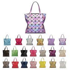 2018 Colorful Lingge Geometric Laser Women Shoulder Bag Purse PVC Totes Handbags