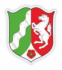 2x Northrhein-Westfalia Alemania Escudo De Armas pegatinas