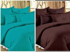 Solid Multicolor Egyptian Cotton King Size Bed Sheets With 2 Pillow Covers