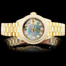 Rolex 18K YG Presidential Ladies Diamond Watch Lot 639