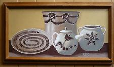 MILO SAAK, Slip Painted Pots, Contemporary Modern MOD, SANTA FE NEW MEXICO OIL