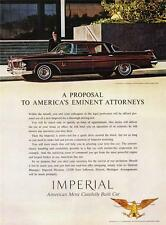 Old Print. 1962 Imperial Crown 4-Door Southampton Auto Advertisement