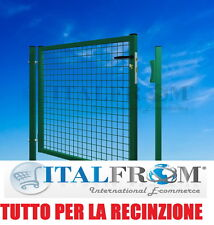 Cancello Pedonale in Ferro per Recinzione Giardino Cancelletto Modulare mt1X1,5H