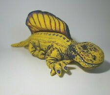 Vintage 1990's Applause Stuffed Plush Yellow Dimetrodon Dinosaur Toy