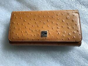 Dooney Bourke Ostrich embossed leather wallet w/checkbook…