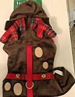 Petco Time for Joy Plaid Reindeer Antler Cat Harness One Size