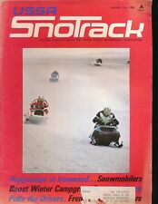 USSA SnoTRACK January 1973 Snowmobiling Magazine
