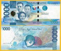 Philippines 1000 Piso p-211d 2017 UNC Banknote