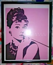 Home Decor AUDREY HEPBURN Movie Poster Large Framed Wall Picture
