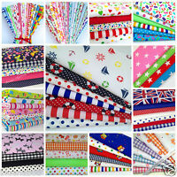 POLYCOTTON  fat quarter fabric bundles - florals childrens baby fabrics free P&P