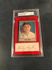 Kirby Higbe Historic Autograph 11/31 1941 Play Ball #52 Autograph PSA 9 MINT